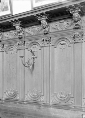 Ancien Hôpital Saint-Joseph - Chapelle Saint-Nicolas : Lambris au-dessus des stalles du choeur