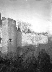Château et son enceinte - Vieux Château : Enceinte sud (tour côté est)
