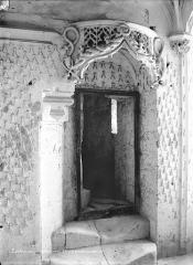 Château et son enceinte - Logis Royal : Oratoire d'Anne de Bretagne, côté porte