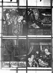 Eglise Saint-Samson - Vitraux, panneaux 2, 3, 4, 11 de la baie A