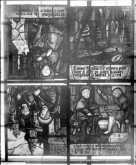Eglise Saint-Samson - Vitraux, panneaux  5, 7, 9, 10 de la baie A