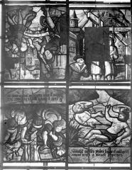Eglise Saint-Samson - Vitraux, panneaux 9, 10, 11, 12 dela baie B