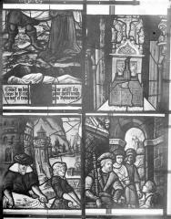Eglise Saint-Samson - Vitraux, panneaux 4, 9, 10, 12 de la baie C