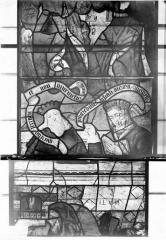 Eglise Saint-Samson - Vitraux, panneaux 1, 14, 15 de la baie F