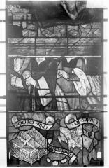 Eglise Saint-Samson - Vitraux, panneaux 12, 25, 26 de la baie F