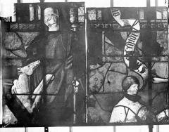 Eglise Saint-Samson - Vitraux, panneaux 3 et 9 de la baie D