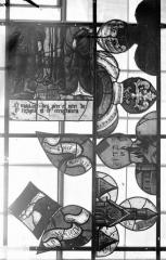 Eglise Saint-Samson - Vitraux, panneaux 13 et 14 de la baie A, panneaux 13 et 14 de la baie C, panneaux 15, 17, 19 de la baie D