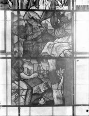 Eglise Saint-Samson - Vitraux, panneaux 5 et 12 de la baie G