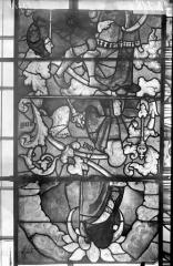 Eglise Saint-Samson - Vitraux, panneaux 5, 11, 18 de la baie E