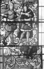 Eglise Saint-Samson - Vitraux, panneaux 1, 15, 16 de la baie E