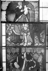Eglise Saint-Samson - Vitraux, panneaux 8, 9, 12 de la baie E