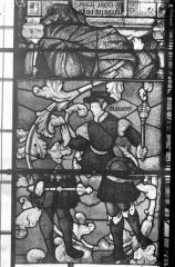Eglise Saint-Samson - Vitraux, panneaux 2, 3, 7 de la baie E