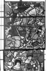 Eglise Saint-Samson - Vitraux, panneaux 4, 6, 17 de la baie E
