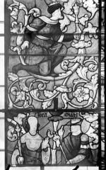 Eglise Saint-Samson - Vitraux, panneaux 10, 13, 14 de la baie E