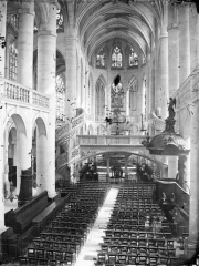 Eglise Saint-Etienne-du-Mont - Nef, vue de l'entrée