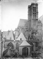 Eglise Saint-Gervais-Saint-Protais - Abside et clocher, coté nord