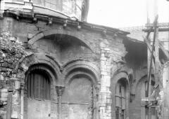 Ancienne abbaye Saint-Martin-des-Champs, actuellement Conservatoire National des Arts et Métiers et Musée National des Techniques - Abside, arcs et décharge, en largeur