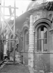 Ancienne abbaye Saint-Martin-des-Champs, actuellement Conservatoire National des Arts et Métiers et Musée National des Techniques - Abside à l'est, échafaudage