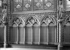 Sainte-Chapelle - Nef haute, arcature du mur sud