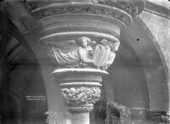 Ancien hôtel de Cluny et Palais des Thermes, actuellement Musée National du Moyen-Age - Culot en encorbellement de la chapelle, partie inférieure