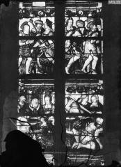 Eglise Saint-Mathurin - Vitrail de saint Jean, quatre panneaux