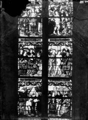 Eglise Saint-Mathurin - Vitrail de sainte Barbe, six panneaux