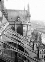 Cathédrale Notre-Dame - Arcs-boutants de la nef et partie supérieure du transept au nord