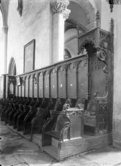 Eglise abbatiale Saint-Pierre - Stalles, côté sud