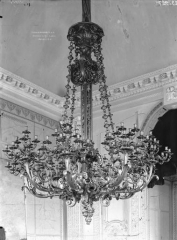 Domaine national : Château de Maisons-Laffitte - Chambre du Roi, lustre