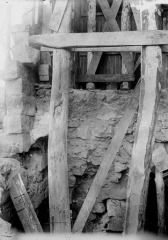 Pavillon de l'Arquebuse - Cave, étaiement