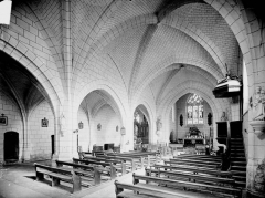 Eglise Saint-Maurice - Nef et bas-côté nord, vue de l'entrée