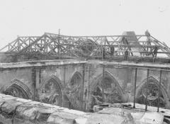 Ancienne collégiale Saint-Quentin - Charpente du transept