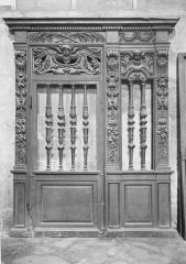 Cathédrale Saint-Maclou - Clôture de chapelle, en bois