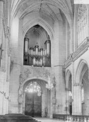 Ancienne abbaye - Eglise, revers de la façade ouest