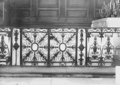 Ancienne abbaye - Eglise, détail, grille d'autel