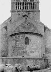 Eglise - Abside et partie inférieure du clocher, à l'est