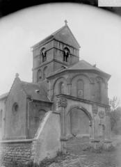 Eglise de Morlange - Abside et clocher, arc d'entrée