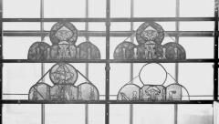 Collégiale, puis cathédrale Notre-Dame, actuellement église paroissiale Notre-Dame - Vitrail du transept, tympans, état avant restauration