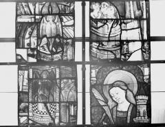 Collégiale, puis cathédrale Notre-Dame, actuellement église paroissiale Notre-Dame - Vitrail du transept, panneaux 1, état avant restauration