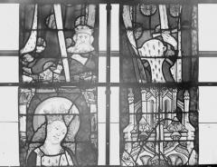 Collégiale, puis cathédrale Notre-Dame, actuellement église paroissiale Notre-Dame - Vitrail du transept, panneaux 2, état avant restauration