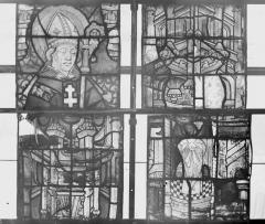 Collégiale, puis cathédrale Notre-Dame, actuellement église paroissiale Notre-Dame - Vitrail du transept, panneaux 2, 3, état avant restauration