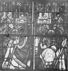 Collégiale, puis cathédrale Notre-Dame, actuellement église paroissiale Notre-Dame - Vitrail du transept, panneaux 3, état avant restauration