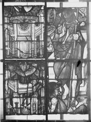 Collégiale, puis cathédrale Notre-Dame, actuellement église paroissiale Notre-Dame - Vitrail du transept, panneaux 4, état avant restauration