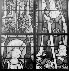 Collégiale, puis cathédrale Notre-Dame, actuellement église paroissiale Notre-Dame - Vitrail du transept, panneaux du transept, état après restauration