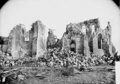 Eglise - Ruines, façade latérale