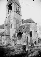 Eglise - Abside et clocher, au sud
