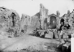 Eglise Notre-Dame - Intérieur après déblaiement