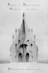 Ancienne abbaye royale de Fontevraud, actuellement centre culturel de l'Ouest - Cuisines, d'après un relevé