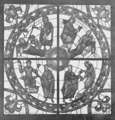Cathédrale Saint-Etienne - Vitrail, Légende de Gamaliel