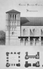 Eglise Sainte-Croix - Relevé